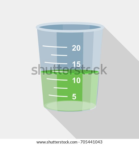 Food jug or measuring quantity cup icon. Flat illustration of food jug or measuring quantity cup vector icon for web