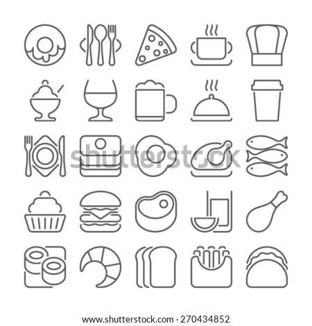 food line icons