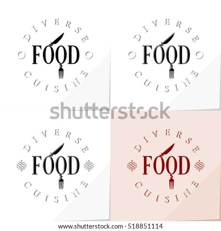 food logo authentic lettering