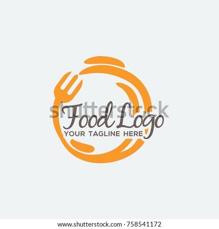Food logo design illustration