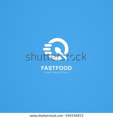 Food Logo Fast Quick Response