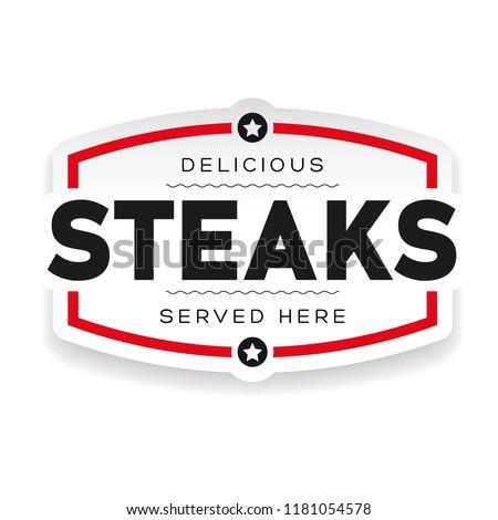 Food logo steaks vintage
