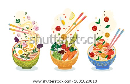 food meal set hot dishes with