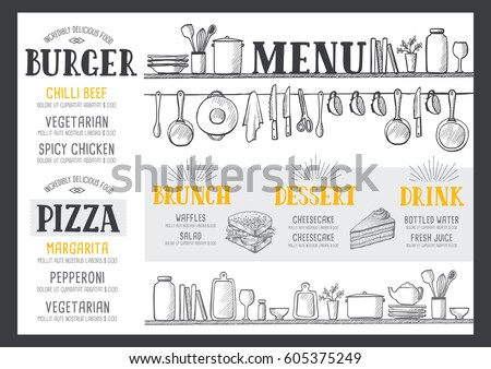 food menu for restaurant and...