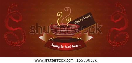 food packaging, coffee pack, fruit tea, hot drink label,coffee label,packaging,vector illustration useful for designing coffee packaging or coffee shop menu,cafe menu or banner