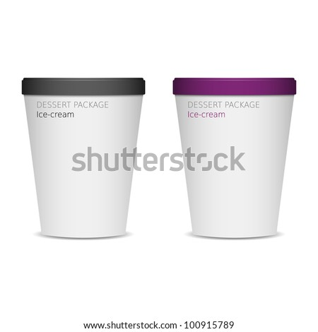 food plastic container , dessert, yogurt, ice-cream