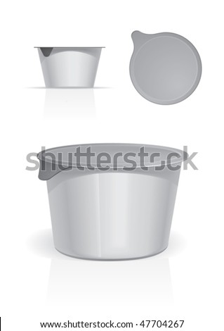food plastic container for new design, vector