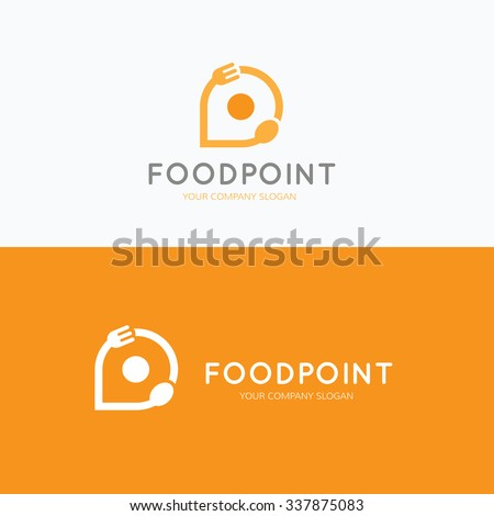 Food point, food and restaurant logo,vector logo template