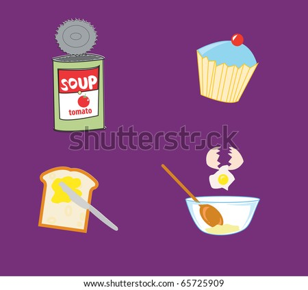 food preparation graphic elements - stock vector