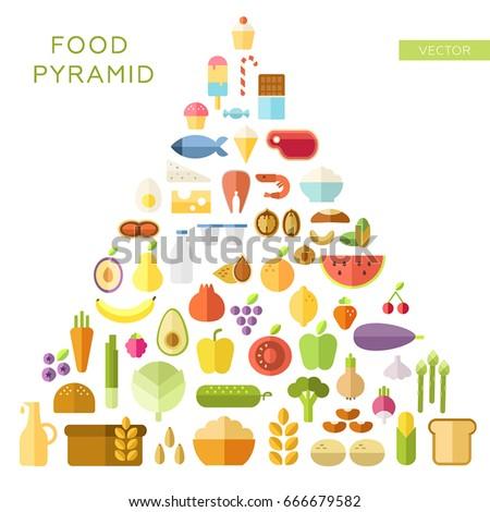food pyramid principles of