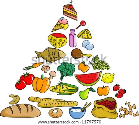 Grocery Items Vector Clip Art Picture