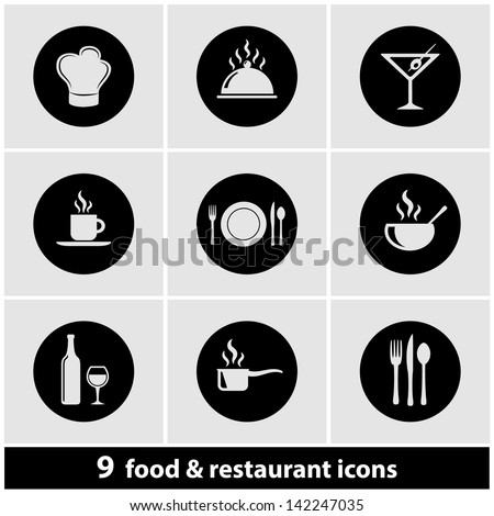 Food & Restaurant Icon Set