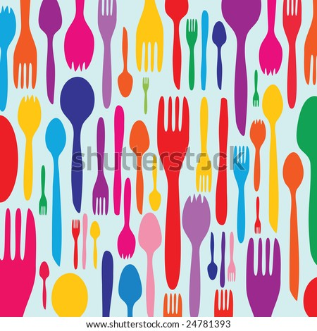 Food - restaurant - menu design with cutlery silhouette
