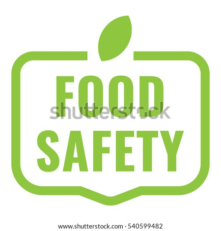 Food safety badge, logo, icon. Flat vector illustration on white background. Can be used business company.