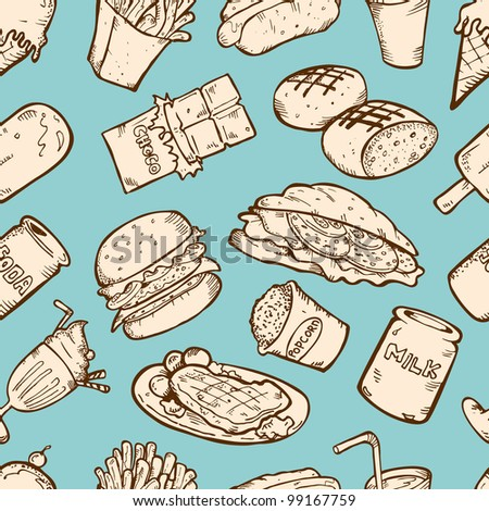 food seamless pattern