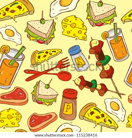 food seamless pattern suitable for wrapping paper