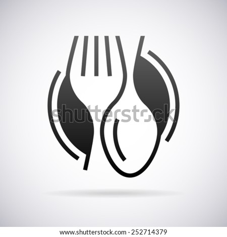 Food service vector logo design template