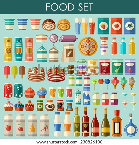 Food set. vector