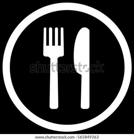 Food Sign Black. Vector.