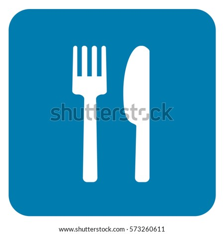 Food Sign Blue. Vector.