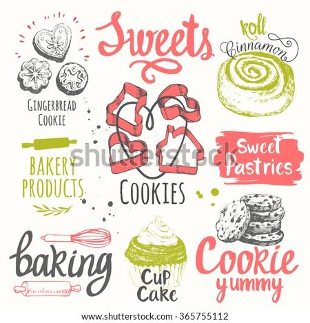 food sketchbook with set of