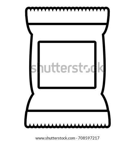 Food snack pillow bag icon. Outline illustration of food snack pillow bag vector icon for web design isolated on white background