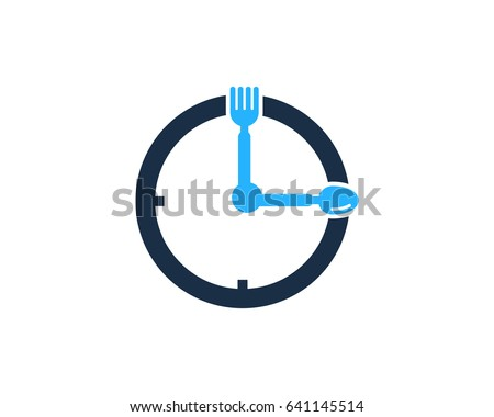 Food Time Icon Logo Design Element