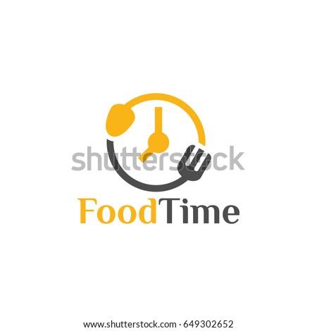 food time logo design template, vector illustration