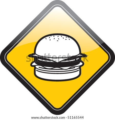 Food Traffic burger - stock vector