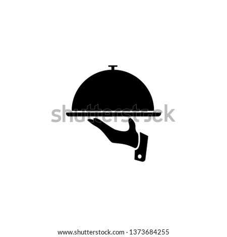 Food Tray on the Hand / Waiters Serving Icon Vector