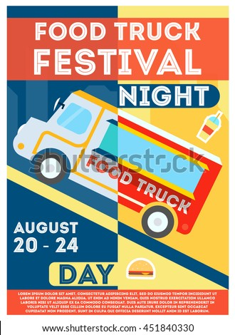 food truck festival flyer or