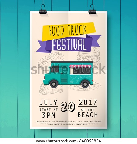 food truck festival poster on