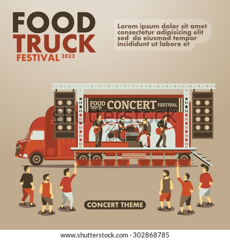 food truck festival poster with