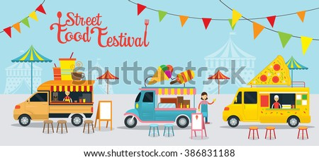 Food Truck, Street Food Festival, Food and Drink, Ice Cream, Pizza
