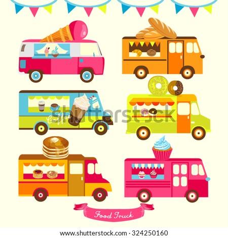 Food Truck Vector Design Illustration