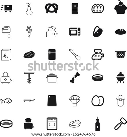 food vector icon set such as: beverage, sky, dessert, kilogram, cartoon, board, grinder, dishes, fish, negative, soup, instrument, scales, celebration, heat, bird, cupcake, toast, spoon, eating, ice
