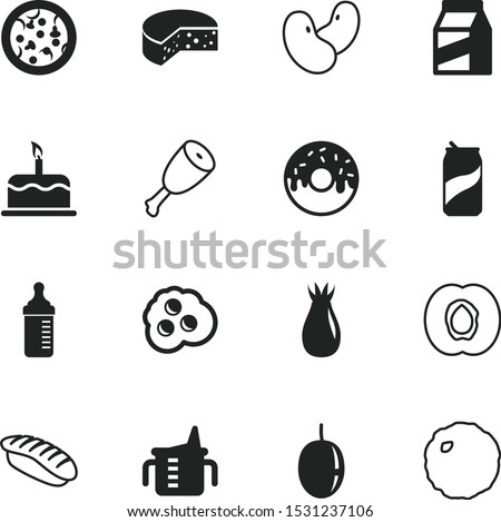 food vector icon set such as: daily, feed, jelly, fat, omelet, healthy lifestyle, open, botany, chicken, steel, morning, thin, collection, child, capacity, roll, soda, rice, peach, web, beans, briar