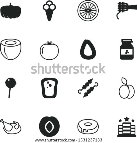food vector icon set such as