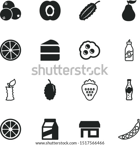 food vector icon set such as: eat, marketing, shipping, pop, box, liquor, sell, apple, peach, vendor, shop, pepsi, scrambled, eggs, cartoon, street, tree, eco, soft, birthday, egg, morning, art