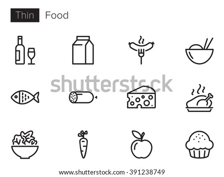 Food Vector icons set