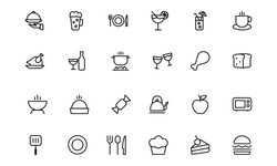 Food Vector Outline Icons 1