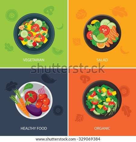 food web banner flat design