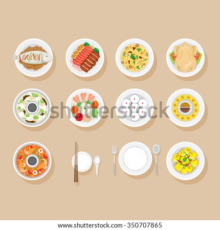foods on dish set  traditional