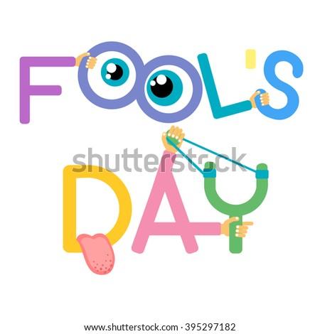 fool day april holiday greeting