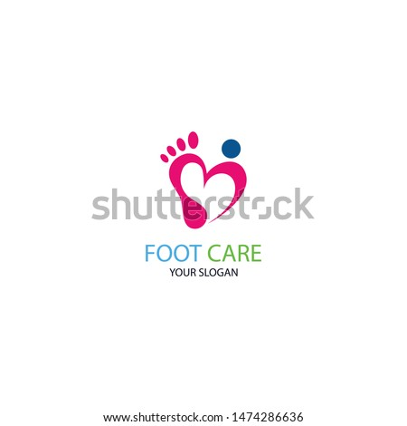 foot care icon logo template