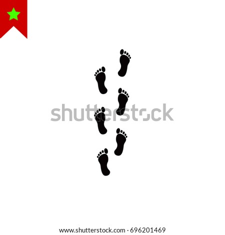 foot icon  vector best flat