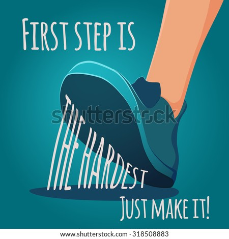 foot making step first step is