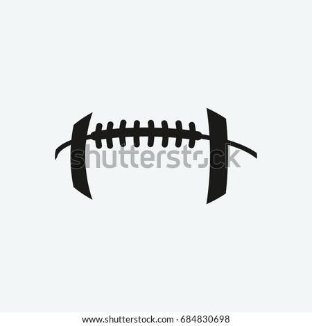 footbal american icon vector