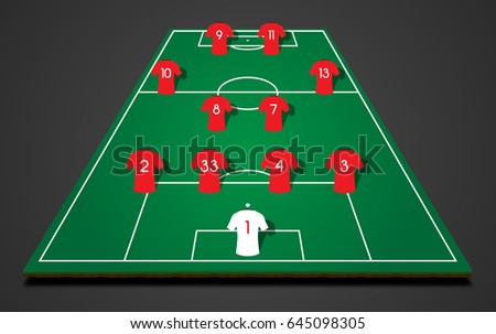 footbal  soccer  3d starting