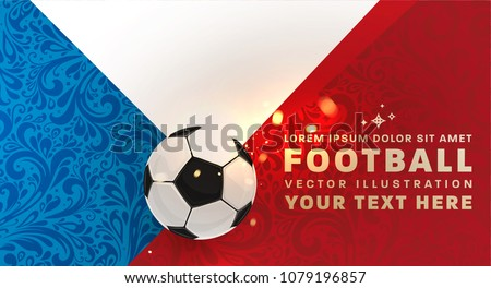 Football Abstract Design Template For Soccer Covers Sport Placards Posters And Flyers With Ball